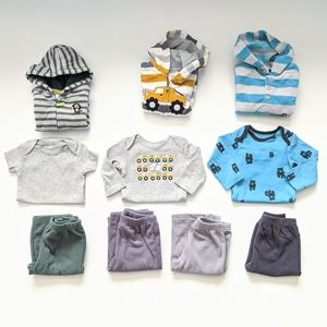 Baby Boy Fleece set Bundle, size 6 mos, 10 pieces